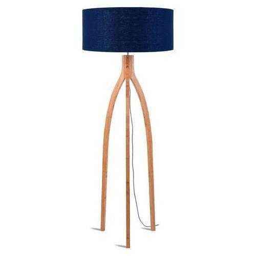 Good & mojo Annapurna-lampa podlogowa statyw bambus & len naturalny wys.160cm