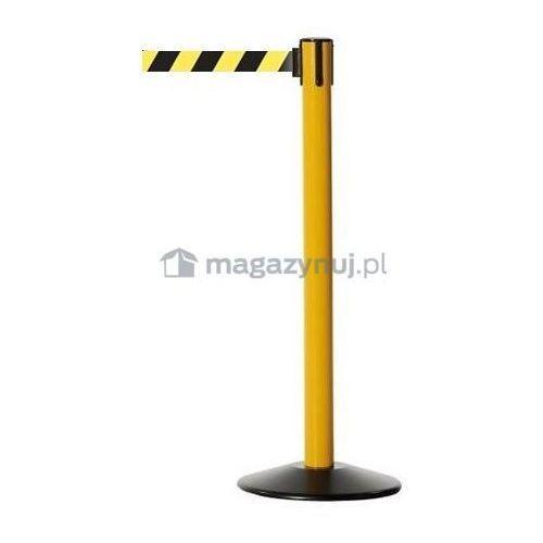 Pachołek/słupek plastikowy Popular z rozwijaną taśmą ostrzegawczą. (Taśma brak) - sprawdź w wybranym sklepie