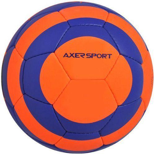 Piłka nożna AXER SPORT Black Rock Pomarańczowo-niebieski (rozmiar 5) (5901780920463)