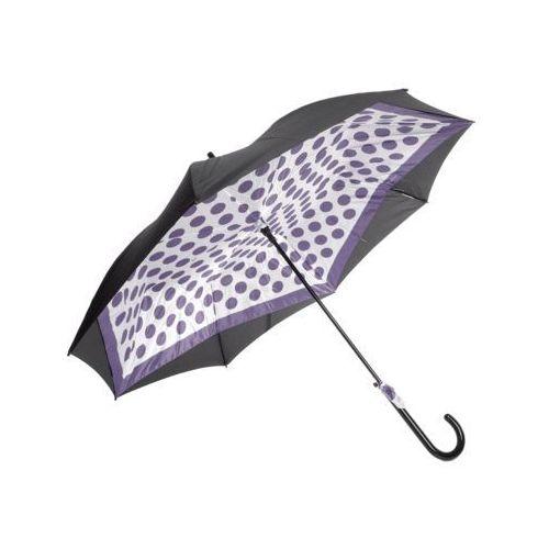 Perletti Parasol długi czarny+fioletowy