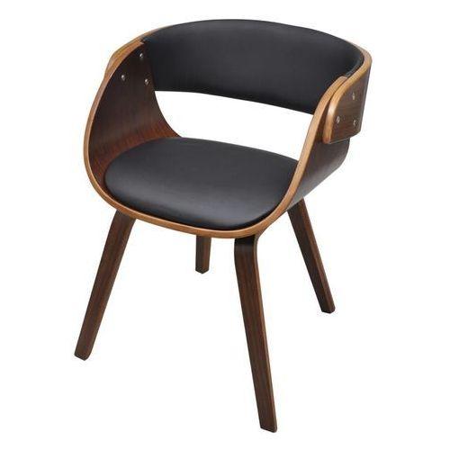 Krzesło do jadalni z drewnianą ramą, brązowe, kolor brązowy