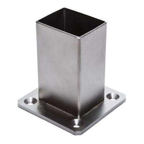 Mocowanie słupka Kornik nierdzewne 37 x 47 mm poziome (5905156094291)