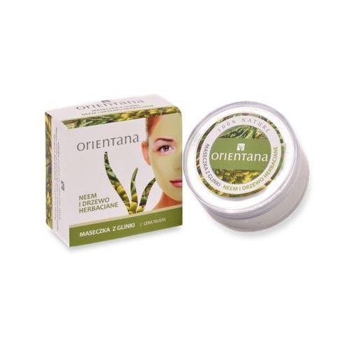 Maseczka z glinki neem i drzewo herbaciane 50g  marki Orientana
