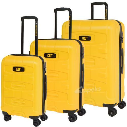 Caterpillar Tank zestaw walizek / komplet / walizki CAT / żółte - żółty