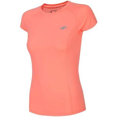 4f Damska koszulka fitness l18 tsdf002 różowy neonowy xl