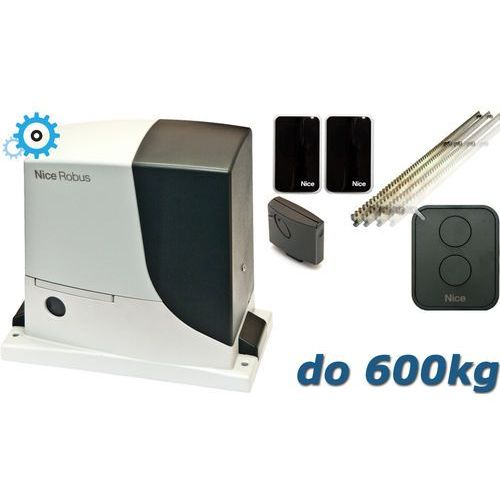 NICE ROBUS 600 SET do 600kg zestaw automatyki - 6mb listwy zębatej