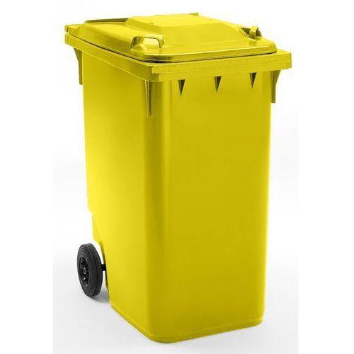 Schaefer group Duży pojemnik na odpady z tworzywa, wg pn en 840, poj. 360 l, wys. x szer. x głę