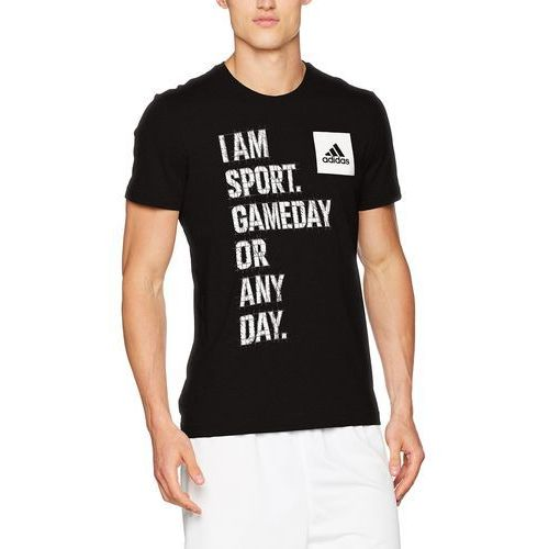 Adidas męski i AM Sport Shirt, czarny, l, BK2809