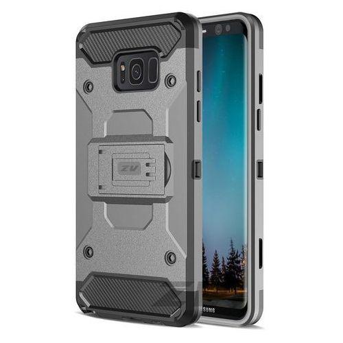 Zizo Armor Cover - Pancerne etui Samsung Galaxy S8+ z podstawką i uchwytem do paska (Black)