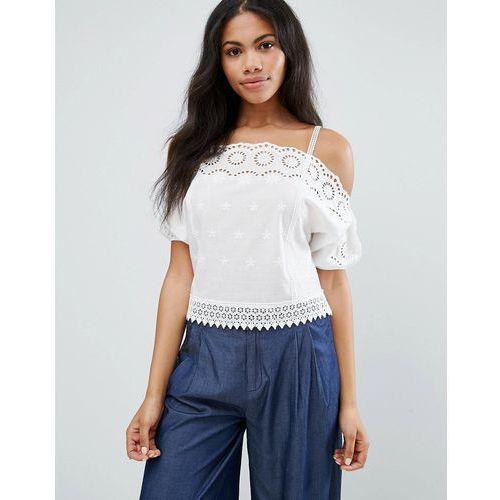 Liqurosh crochet cold shoulder cami top - white, Liquorish