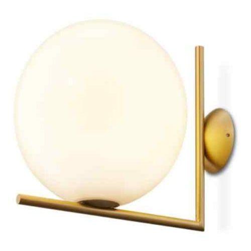 Lampa kinkiet HALM 20 - mosiądz, szkło