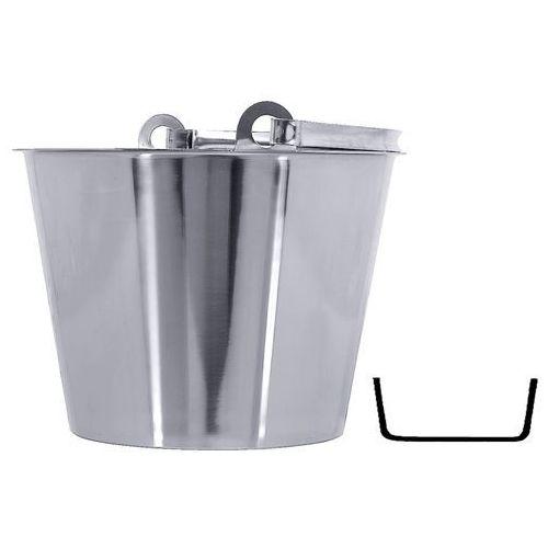 Wiadro ze stali nierdzewnej bez pokrywki, 12 l, o średnicy 310 mm | CONTACTO, 415/012
