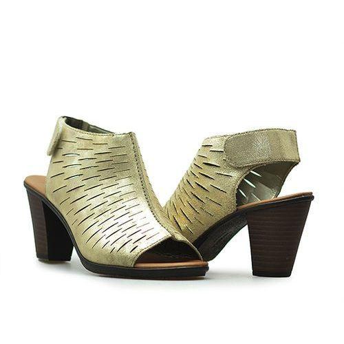 Sandały Rieker 64197-62 Złote metalik
