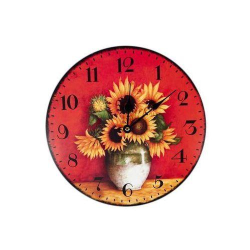 Zegar wiszący na ścianę do powieszenia słoneczniki marki Queen isabell