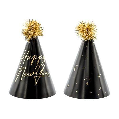 Party deco Czapeczki papierowe happy new year - 6 szt. (5900779115293)