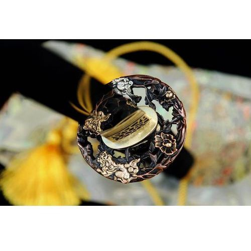 Miecz samurajski honsanmai katana, stal warstwowana i wysokowęglowa 1095, r728 marki Kuźnia mieczy samurajskich