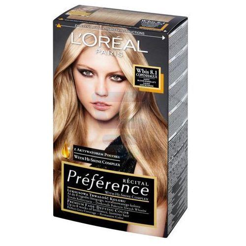 Recital Preference farba do włosów 8,1 Jasny Blond Popielaty - L'Oreal Paris, 3600010013846