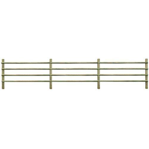 Vidaxl ogrodzenie z impregnowanego drewna sosnowego, 100% fsc, 6 m