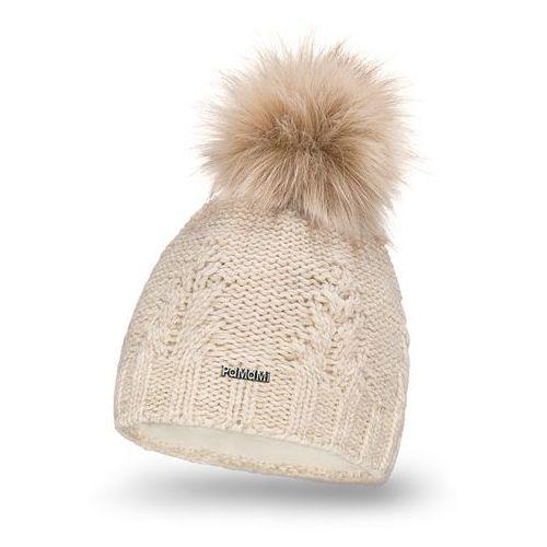 Zimowa czapka damska PaMaMi - Beżowy - Beżowy, kolor beżowy