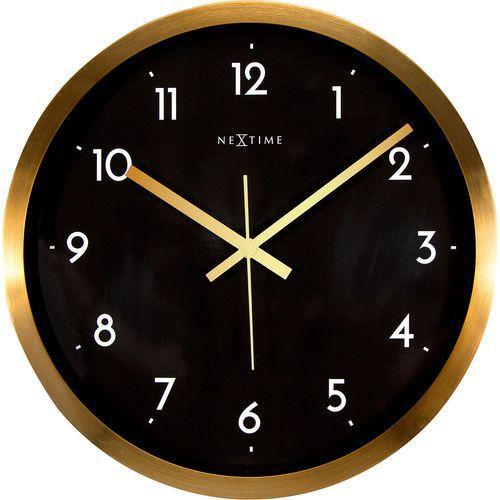 Zegar ścienny Arabic Nextime 44 cm, czarny / złoty (2523 GB)