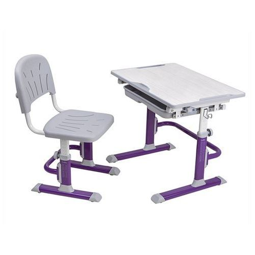 Fundesk Lupin cubby purple - ergonomiczne, regulowane biurko dziecięce z krzesełkiem - złap rabat: kod30