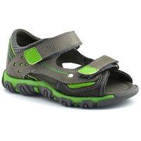 Sandały dla dzieci 06189 - zielony ||szary marki Kornecki