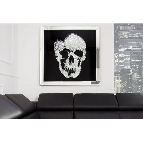Interior Obraz na szkle glam skull 100x100 cm