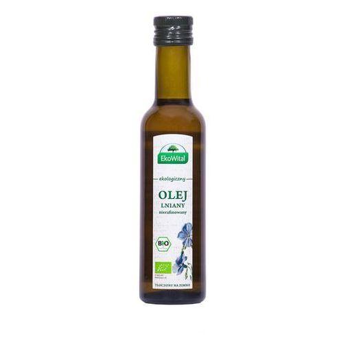 Olej lniany tłoczony na zimno BIO 250 ml (olej, ocet)
