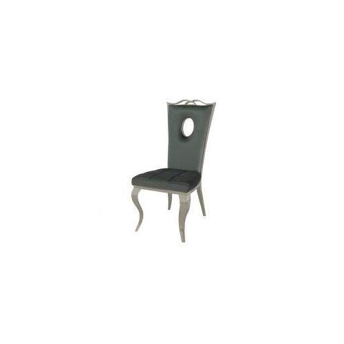 Krzesło glamour Luxury Dark Grey - nowoczesne krzesło tapicerowane, kolor szary