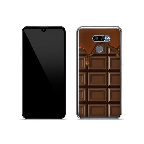LG K50 - etui na telefon Fantastic Case - tabliczka czekolady, kolor brązowy