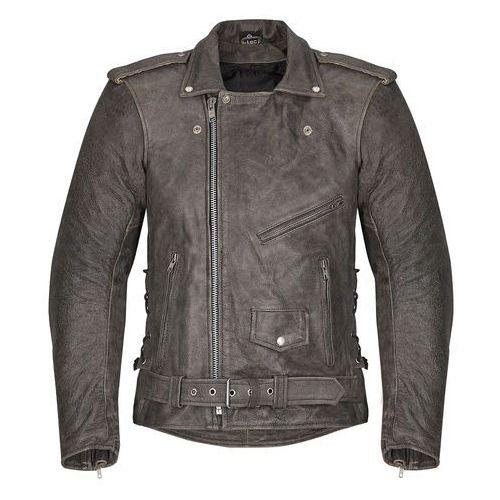 Męska skórzana kurtka motocyklowa -TEC Roguer NF-1127, Brown, M, skóra