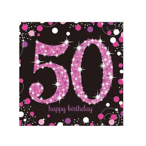 Serwetki na pięćdzieste urodziny - 33cm - 16 szt.