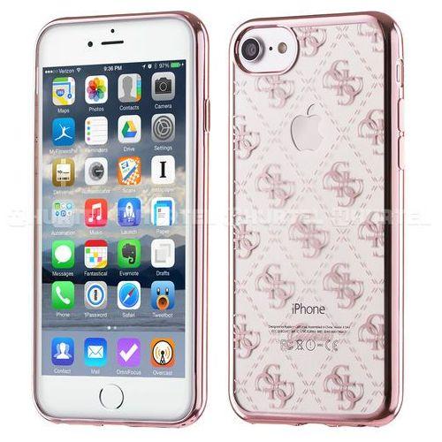 GUESS Hardcase GUHCP6TR4GRG iPhone 6/6S różowo złoty 4G Transparent DARMOWA DOSTAWA DO 400 SALONÓW !!, kup u jednego z partnerów