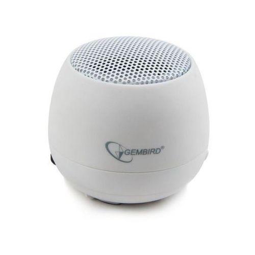 przenośny głośnik z wbudowaną baterią (mp3, telefon gsm, laptop) biały marki Gembird