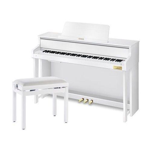 CASIO GP-300 White - Pianino cyfrowe + ława Stagg (fortepian, pianino)