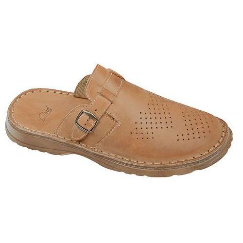 Klapki buty 951 beżowe - beżowy ||brązowy marki Łukbut