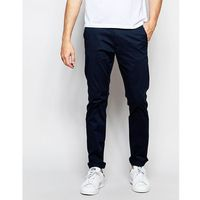 slim fit chinos with italian leather belt - blue, Selected homme