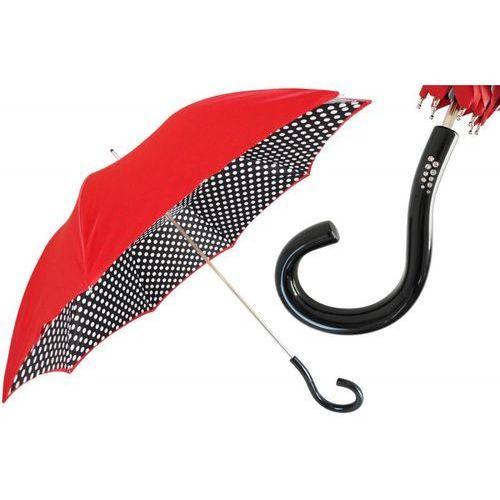 Parasol bright red polka dots, podwójny materiał, 189n 55874-1 u18 marki Pasotti