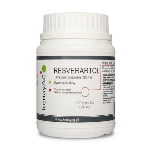 Resweratrol trans - zmikronizowany 200 mg (300 kapsułek)