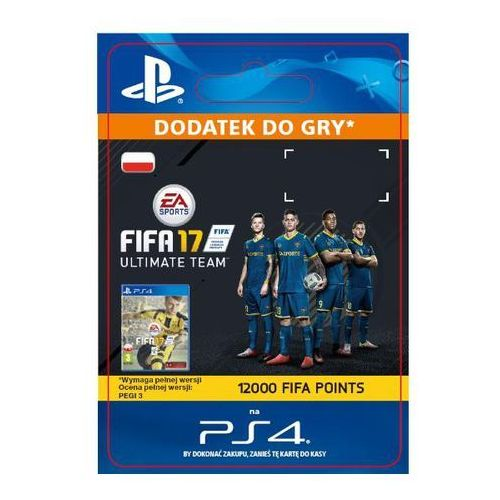 Fifa 17 12000 punktów [kod aktywacyjny] marki Sony