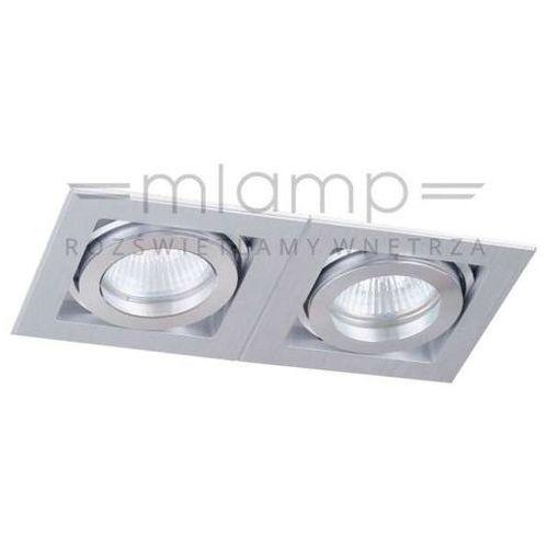 Orlicki design Podtynkowa lampa sufitowa robo ii metalowa oprawa wpuszczana oczko prostokątne paco aluminium (1000000281903)