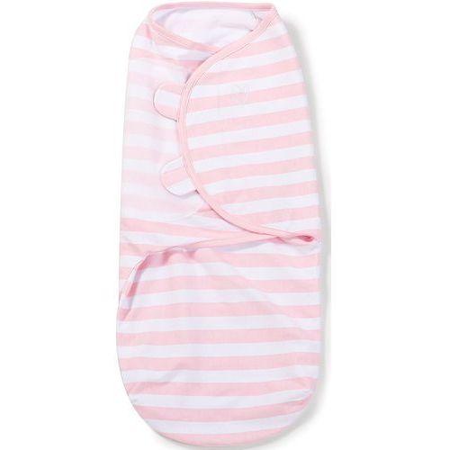 Otulacz  - rozmiar l - biało-różowe paski - etap 2 marki Swaddleme