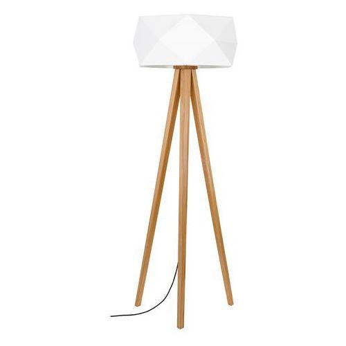 Spot Light Finja 6741174 lampa stojąca podłogowa z abażurem 1x60W E27 dąb bielony/antracyt/biały (5901602353585)