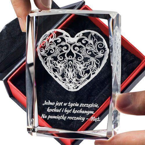 Koronkowe Serce 3D z Twoją dedykacją ♥ statuetka średnia • GRAWER 3D