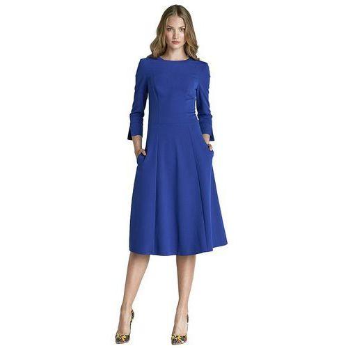 Nife Sukienka midi - niebieski - s64