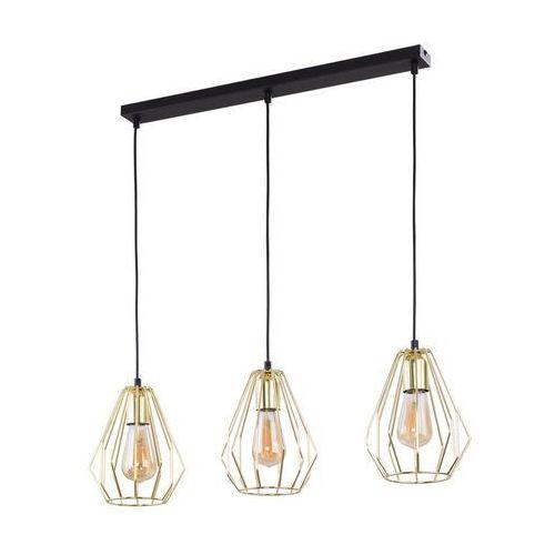 Tklighting Tk lighting brylant gold 2789 lampa wisząca zwis 3x60w e27 złoty/czarny (5901780527891)