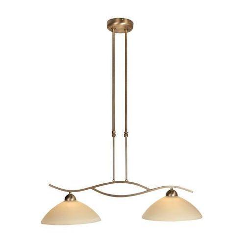 Klasyczna lampa wisząca brąz z przesuwanym drążkiem 2-lampa - Corsaire