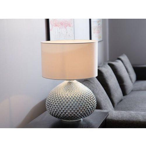 Beliani Lampka stołowa srebrna madon (4260586353181)