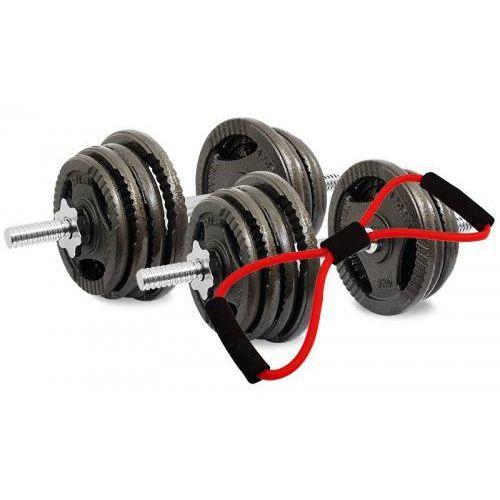 Hantle żeliwne kierownice zestaw 2x20 kg Tytan Sport 40 kg + Ekspander