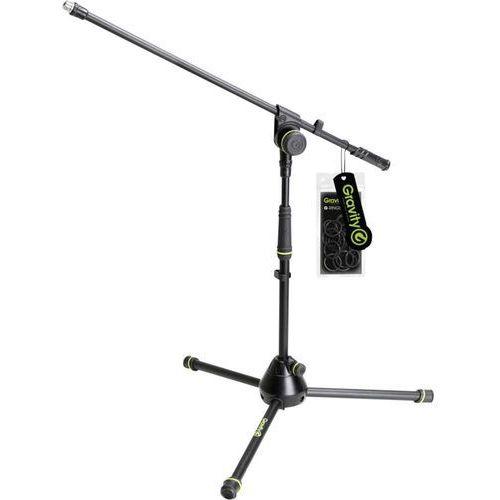 Statyw mikrofonowy Gravity MS 4211 B, 51 ‑ 74 cm, czarny/zielony